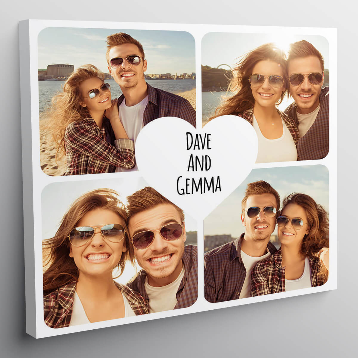"""personalised 12x12"""" Heart Collage Canvas"""
