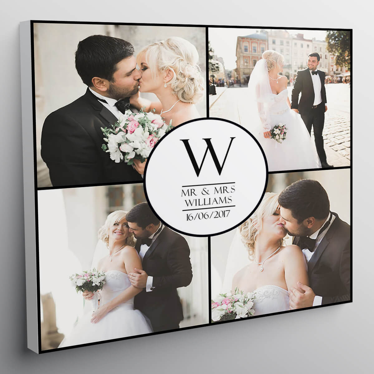 "personalised 12x12"" Wedding Collage Canvas"
