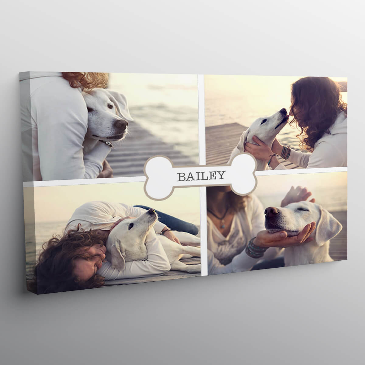 """personalised 16x24"""" Bone Collage Canvas"""