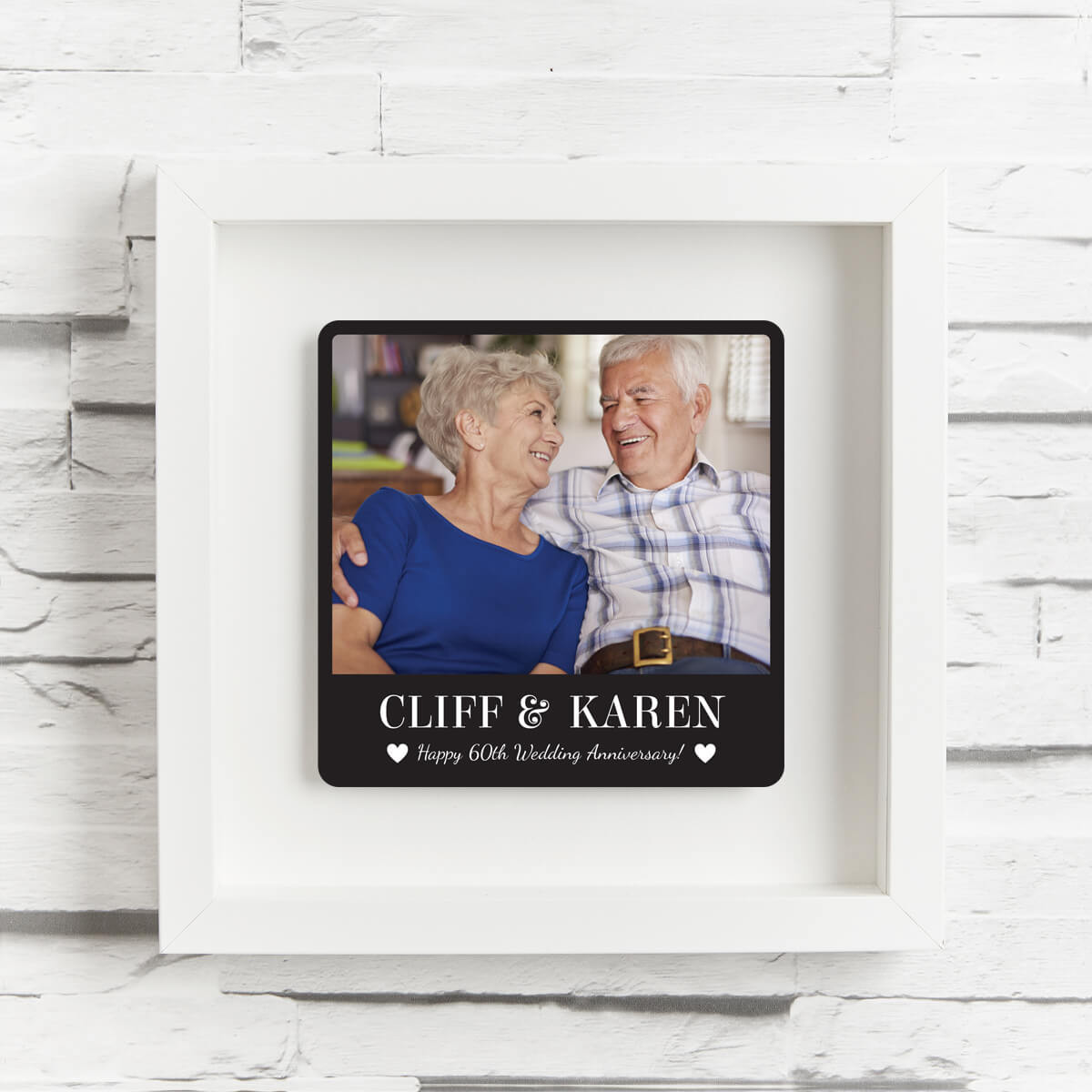 personalised 60th wedding anniversary shadow box