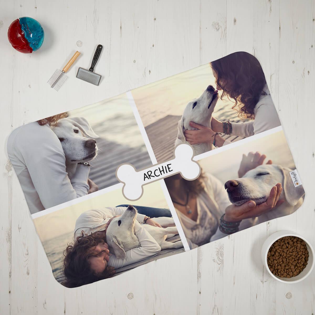 Dog Bone Photo Blanket