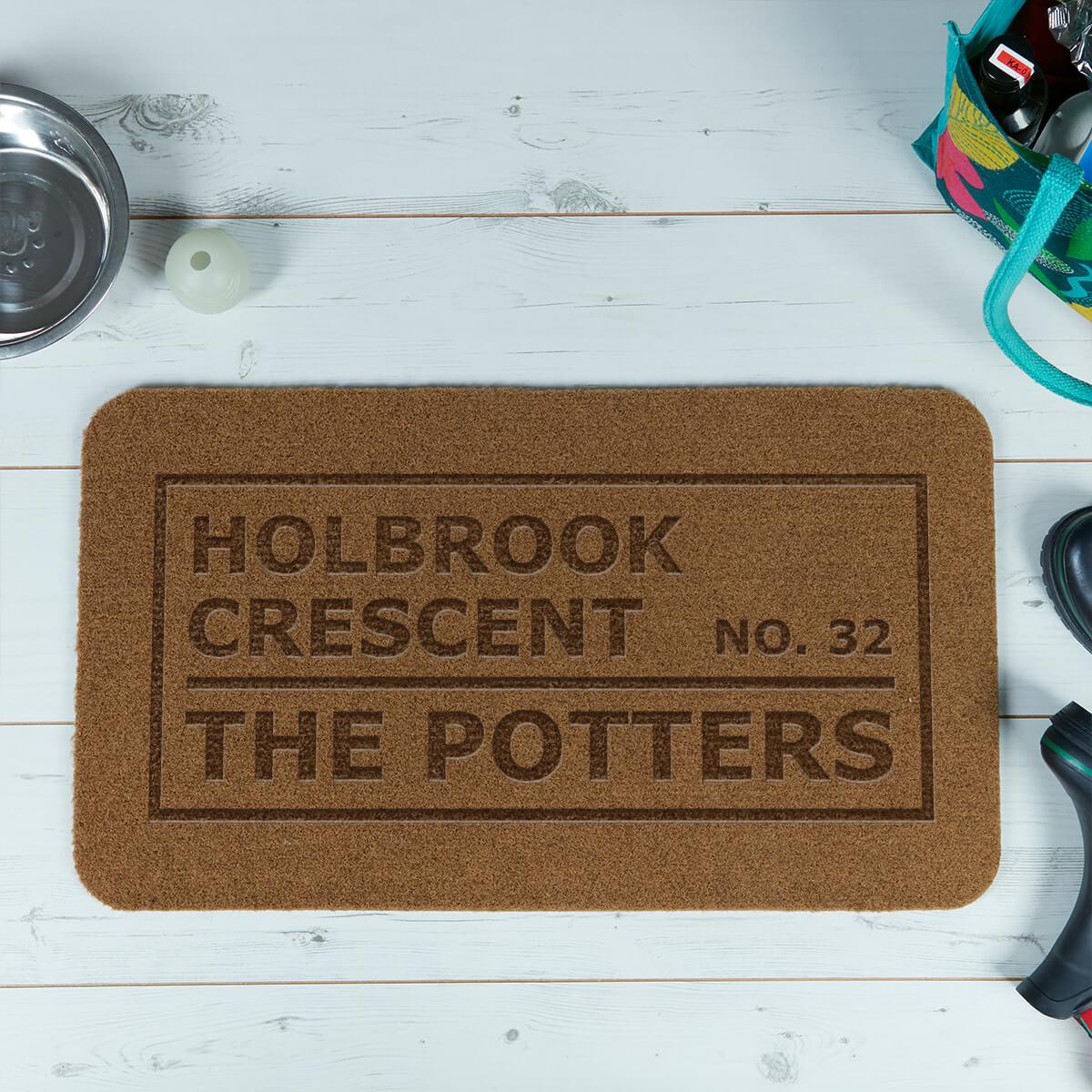 personalised Address Outdoor Engraved Doormat