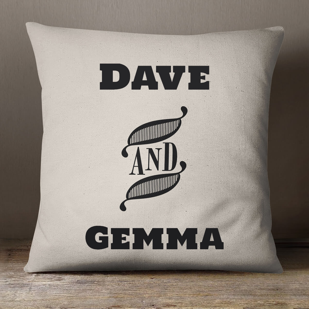 personalised His and Hers Cotton Cushion
