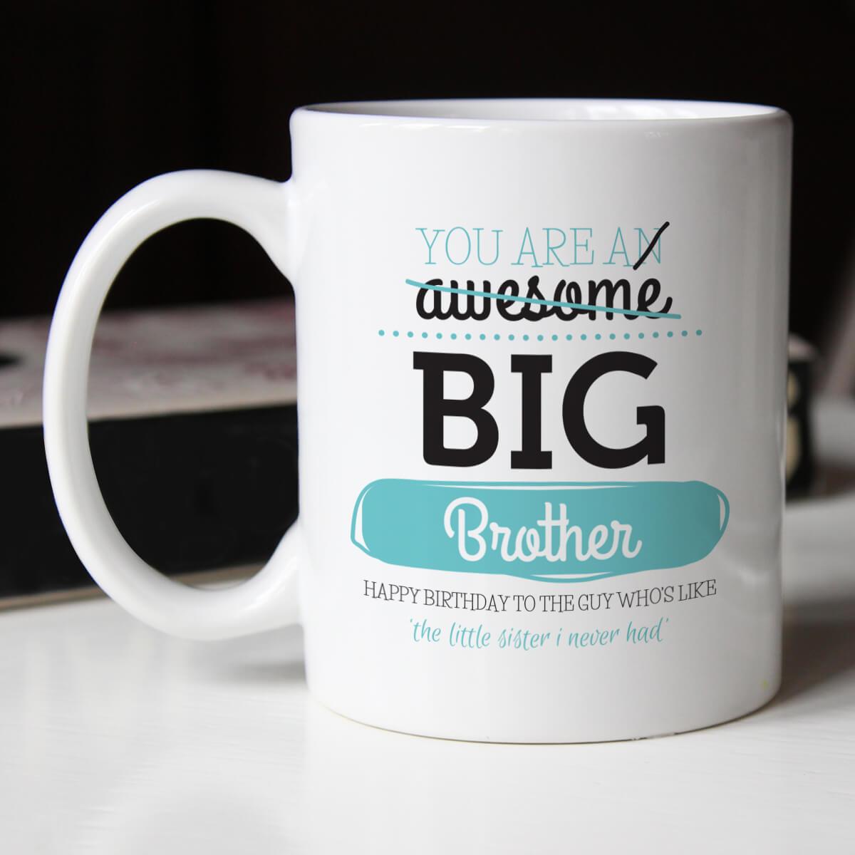 Personalised Awesome Sarcastic Brother Durham Mug