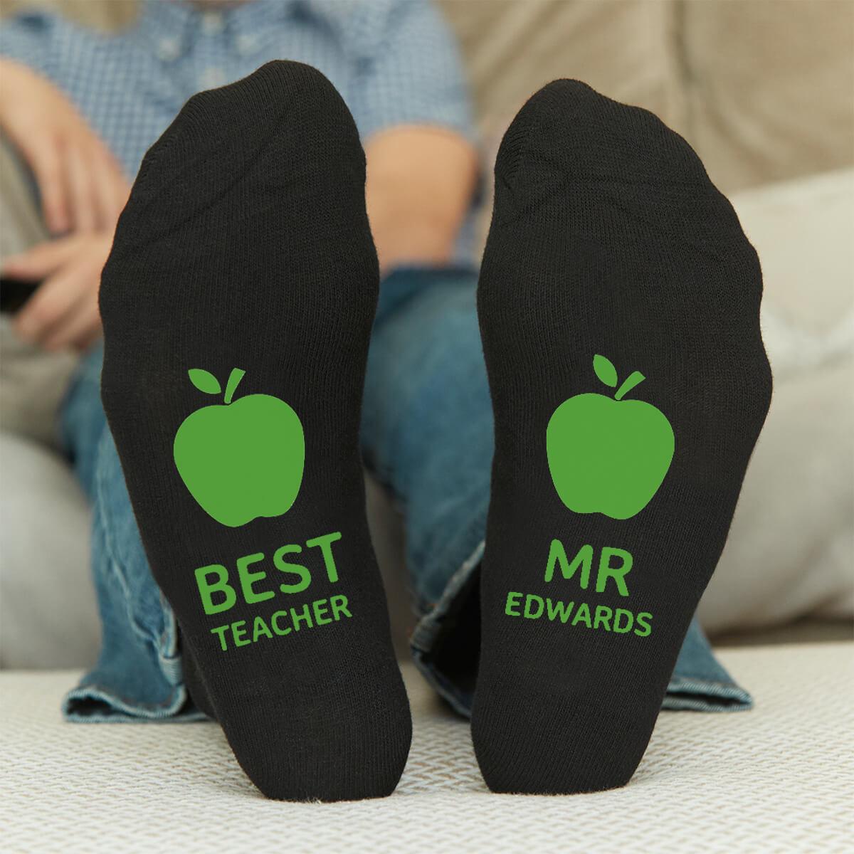 personalised best teacher socks