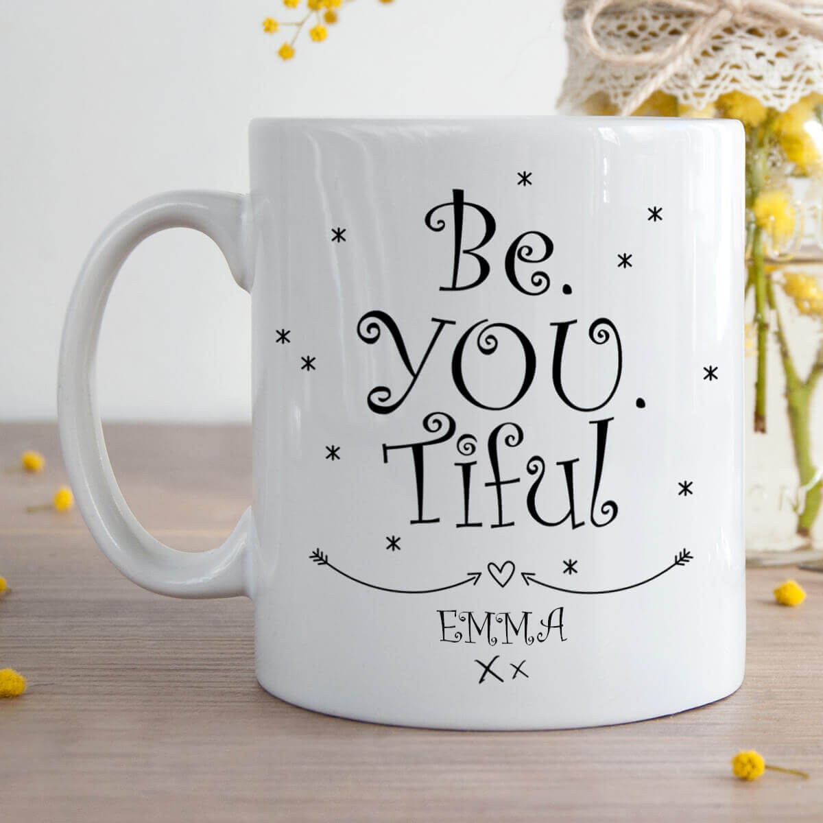 Personalised Be You Tiful Durham Mug