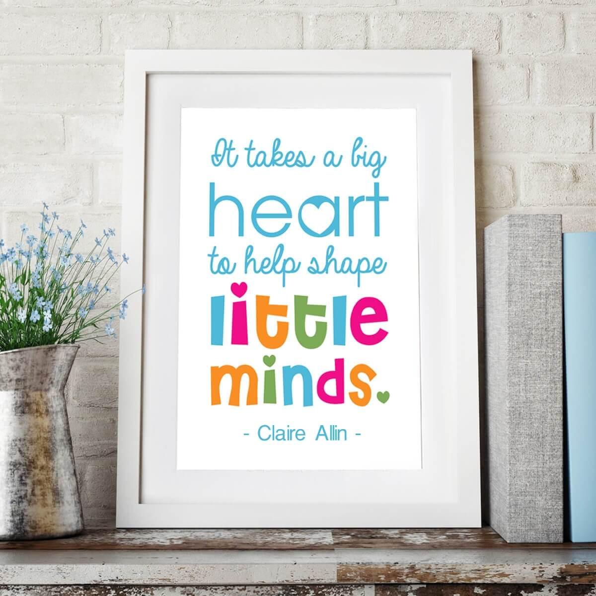 personalised Help Shape Little Minds Wall Art