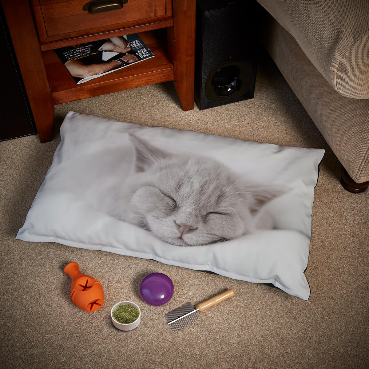personalised Photo Cat Bed