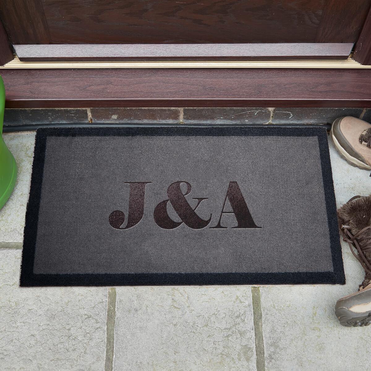 personalised initials doormat