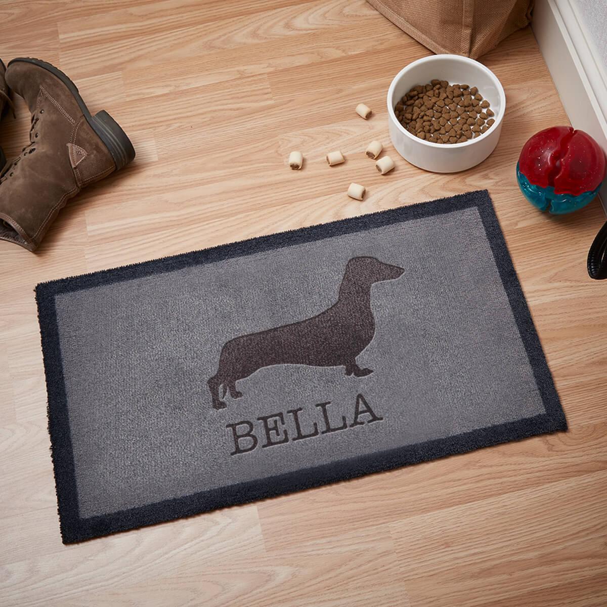 personalised dachshund doormat