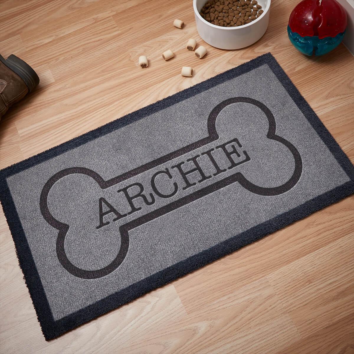 personalised dog bone doormat