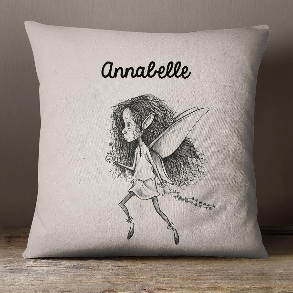 personalised Fairy Cotton Cushion