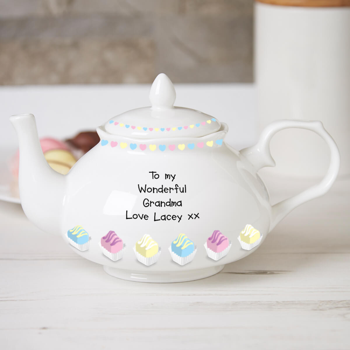 personalised Fancy Cakes Traditional Teapot