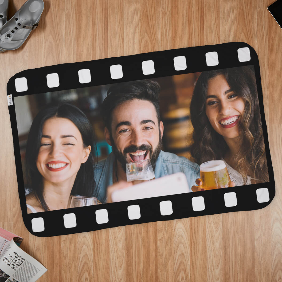 Film Strip Photo Blanket