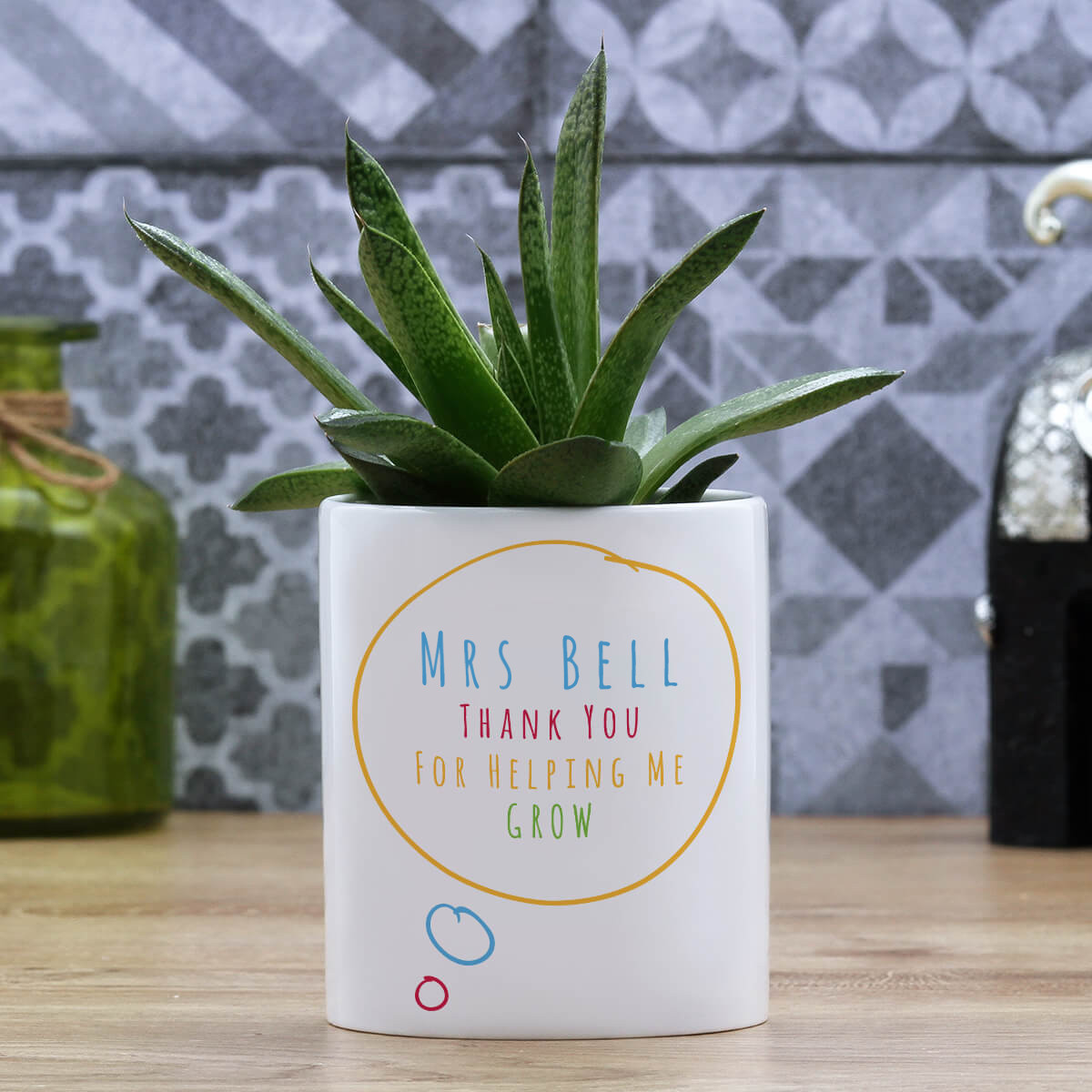 personalised Thanks For Helping Me Grow Plant Pot
