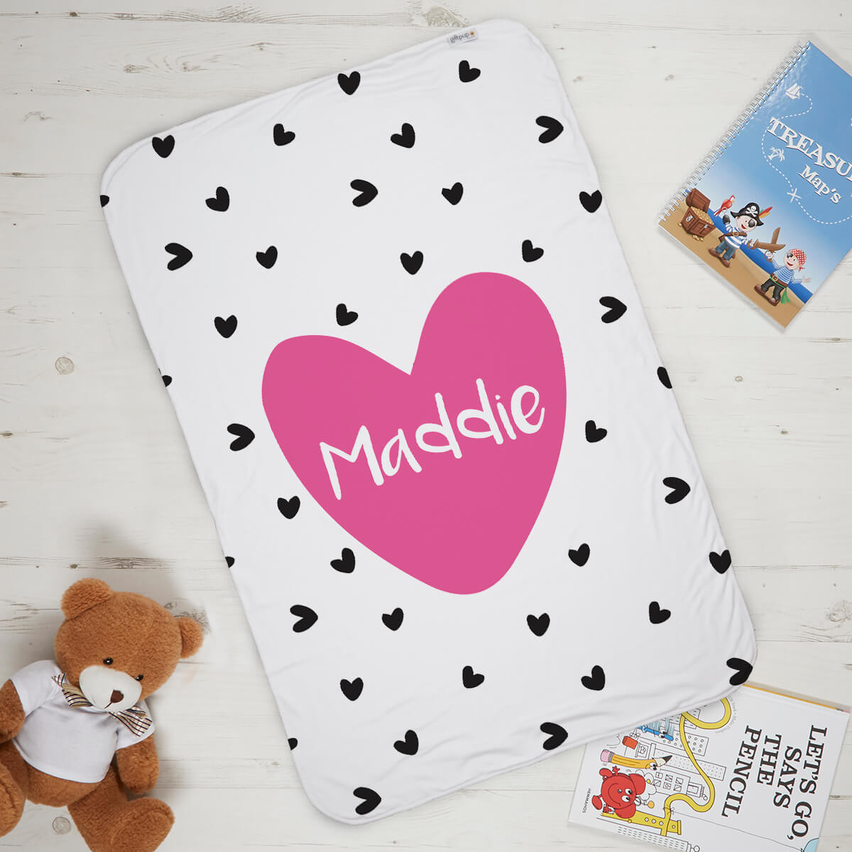 Girls Name Heart Blanket