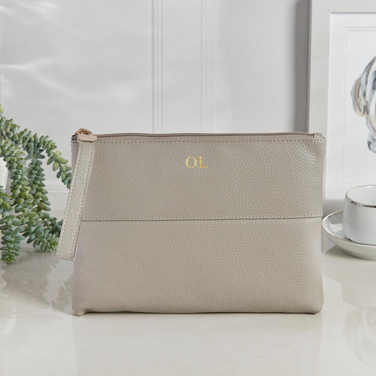 personalised Courtney Handbag Stone