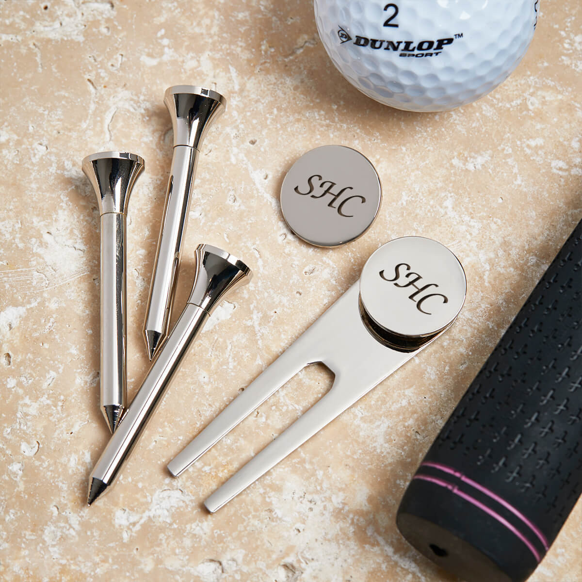 personalised golf tee set
