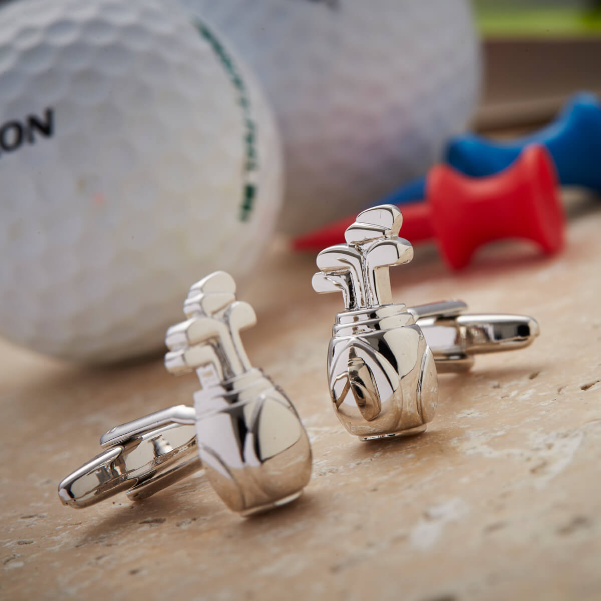 Personalised Golf Bag Cufflinks
