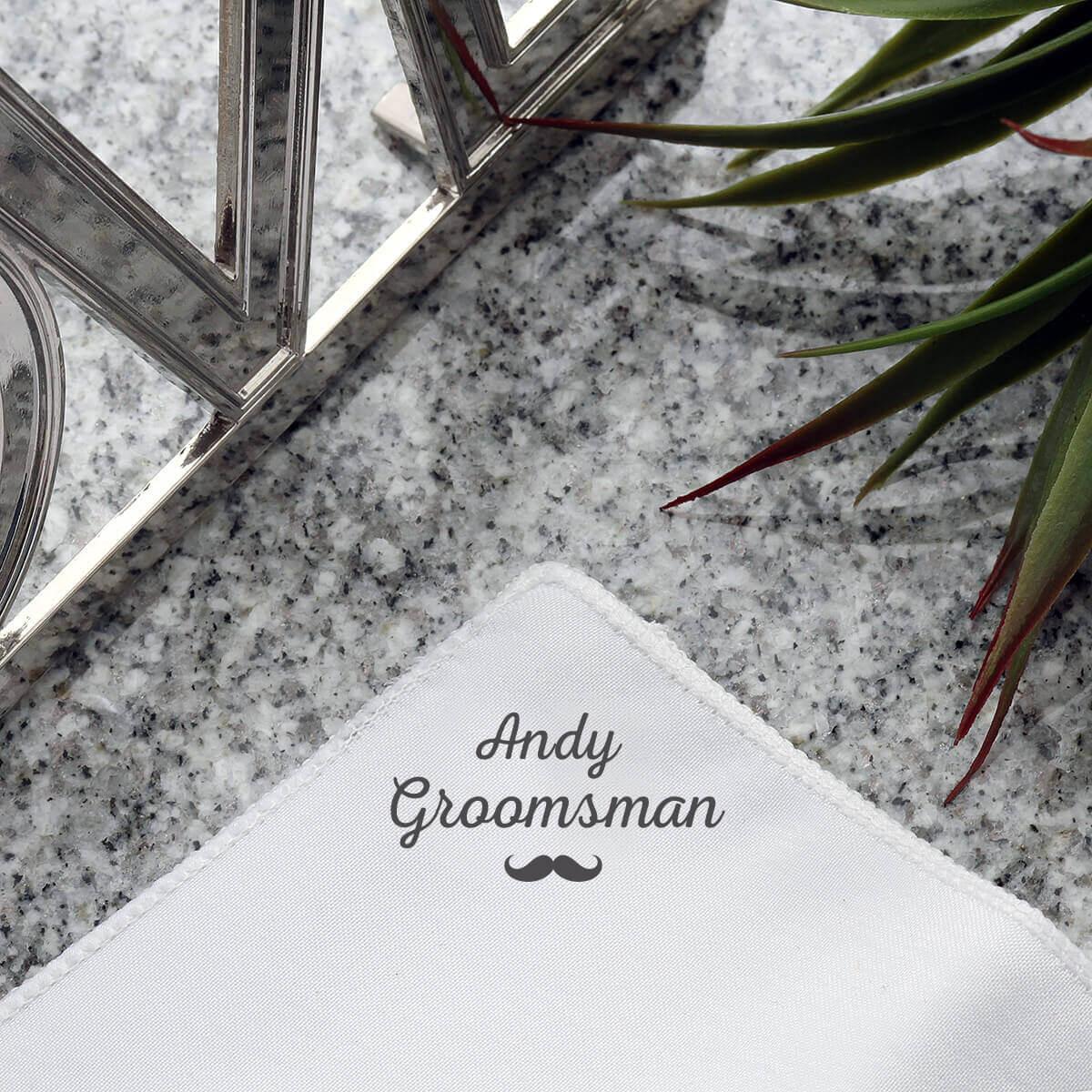 personalised Groomsman Pocket Square