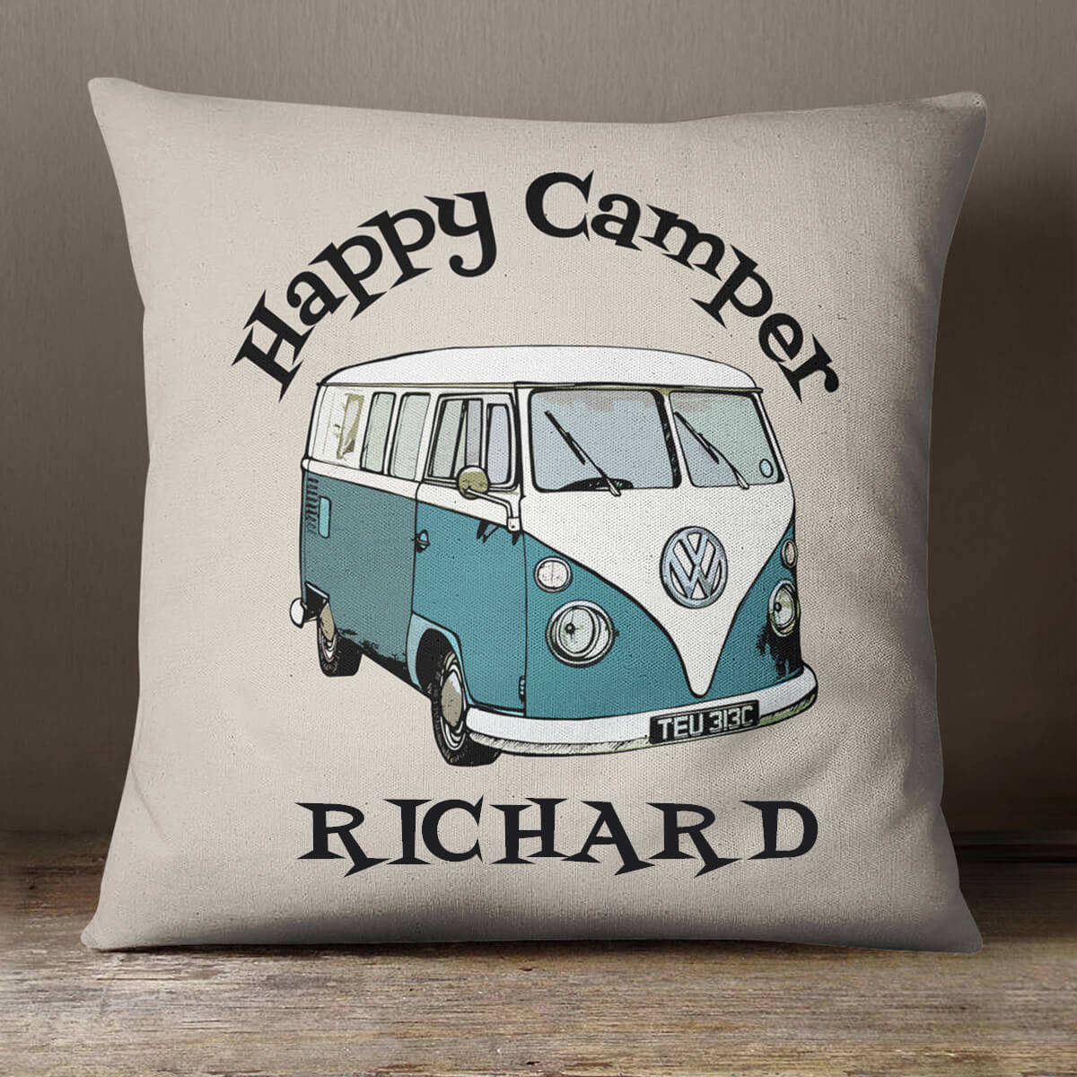 personalised VW Camper Van Cotton Cushion