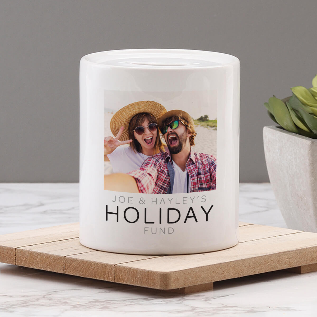 Personalised Holiday Fund Money Box