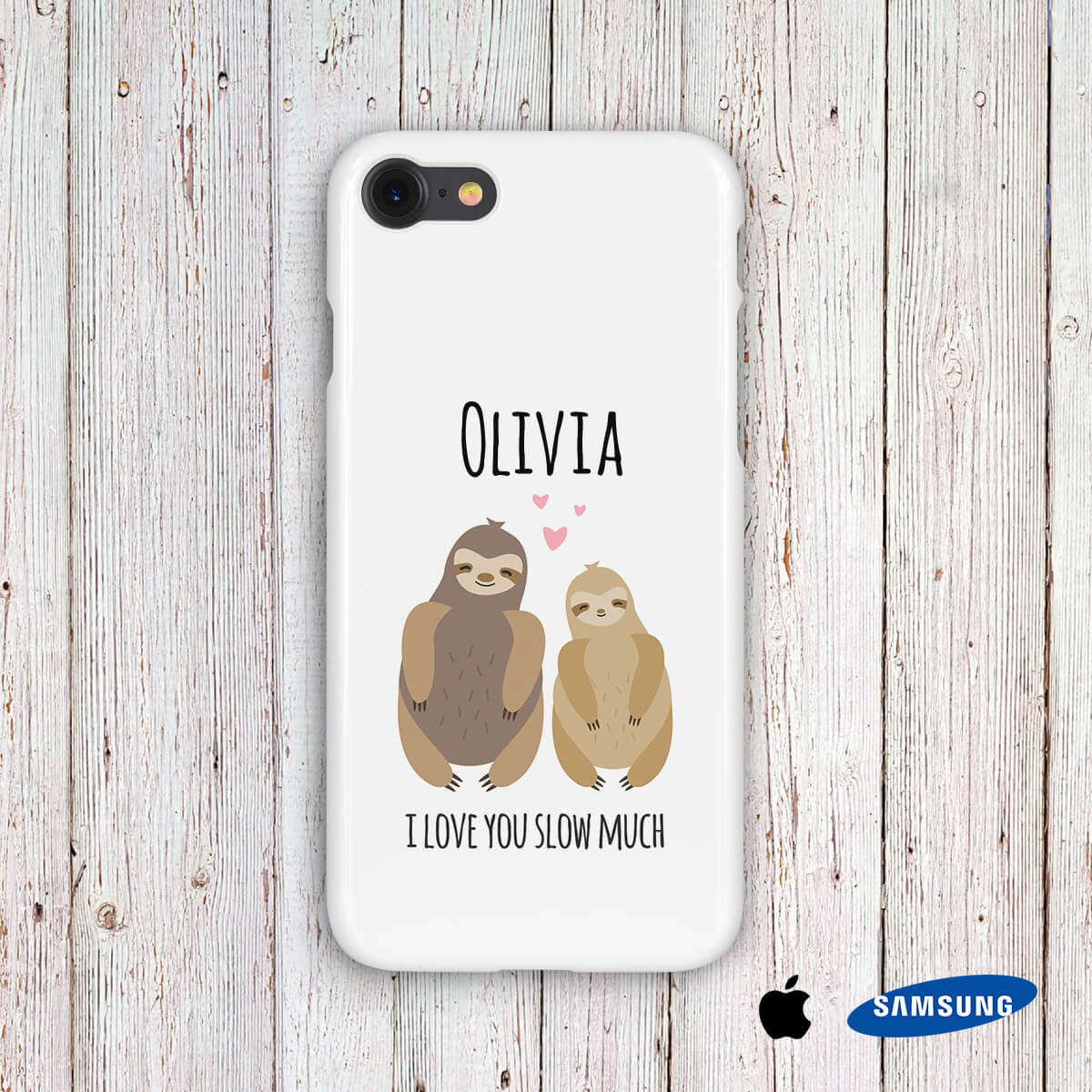 personalised I Love You Slow Much Phone Case