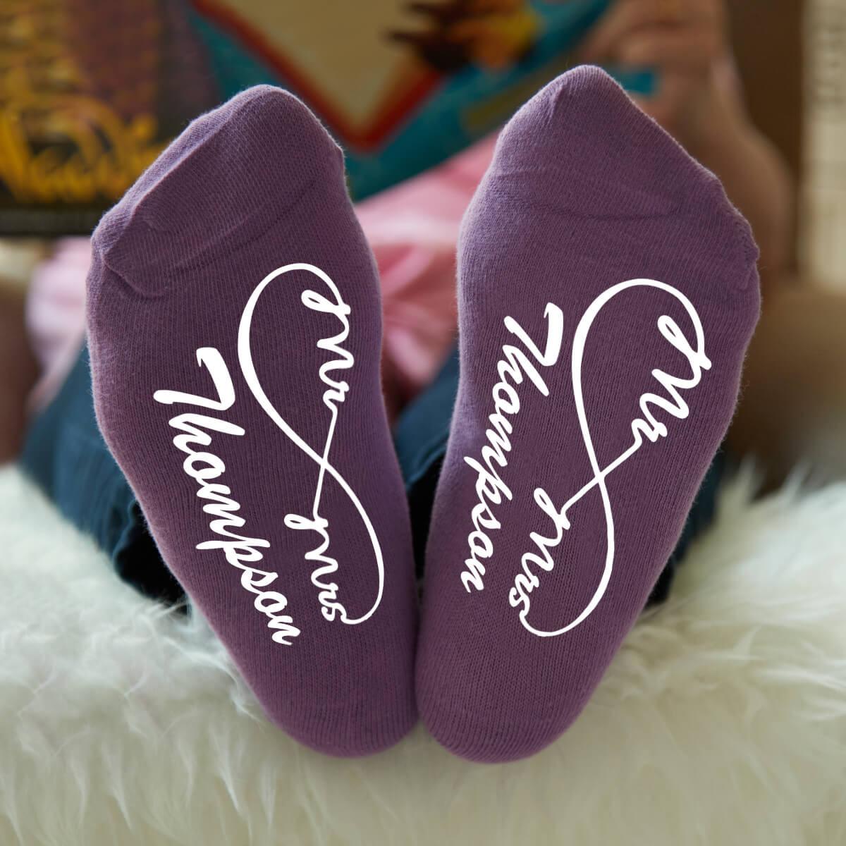 personalised inifinity socks