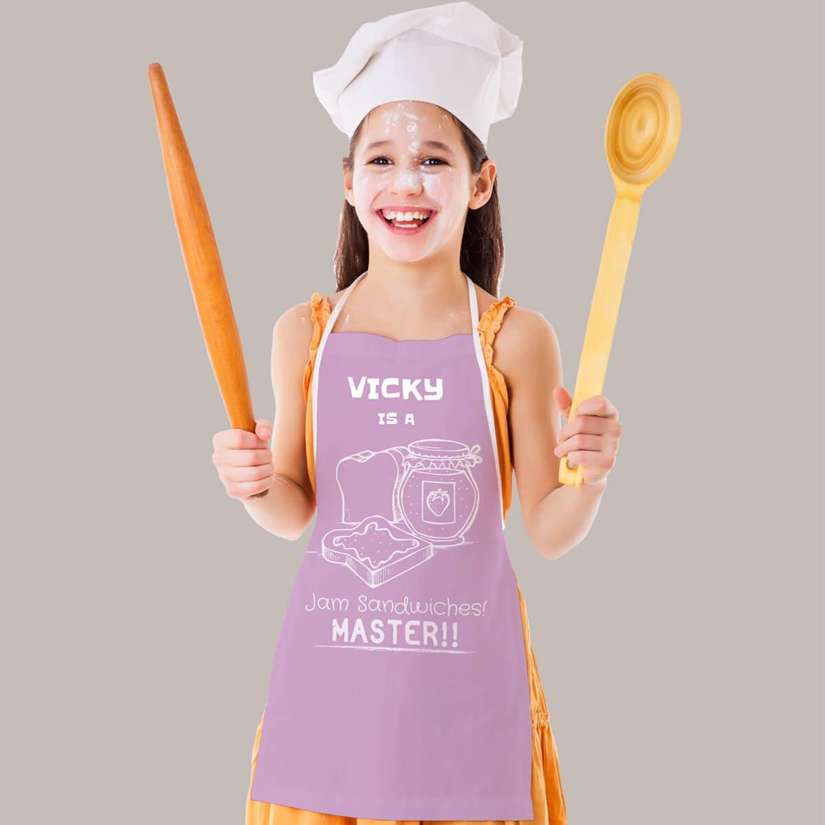 Personalised Jam Master Pink Apron
