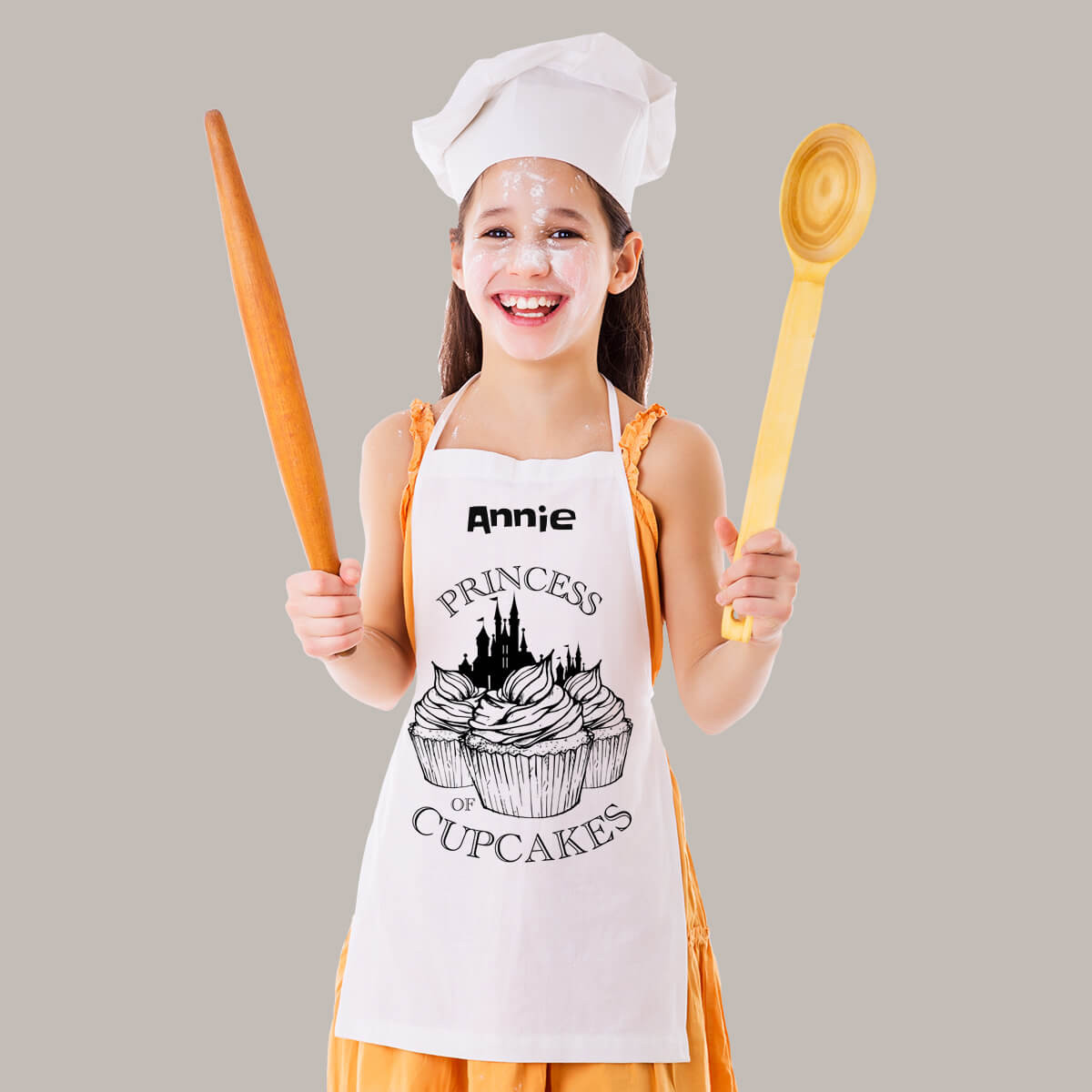 Personalised Cupcakes White Apron
