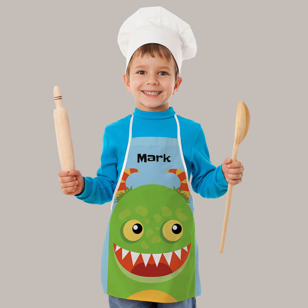 Personalised Green Monster Apron