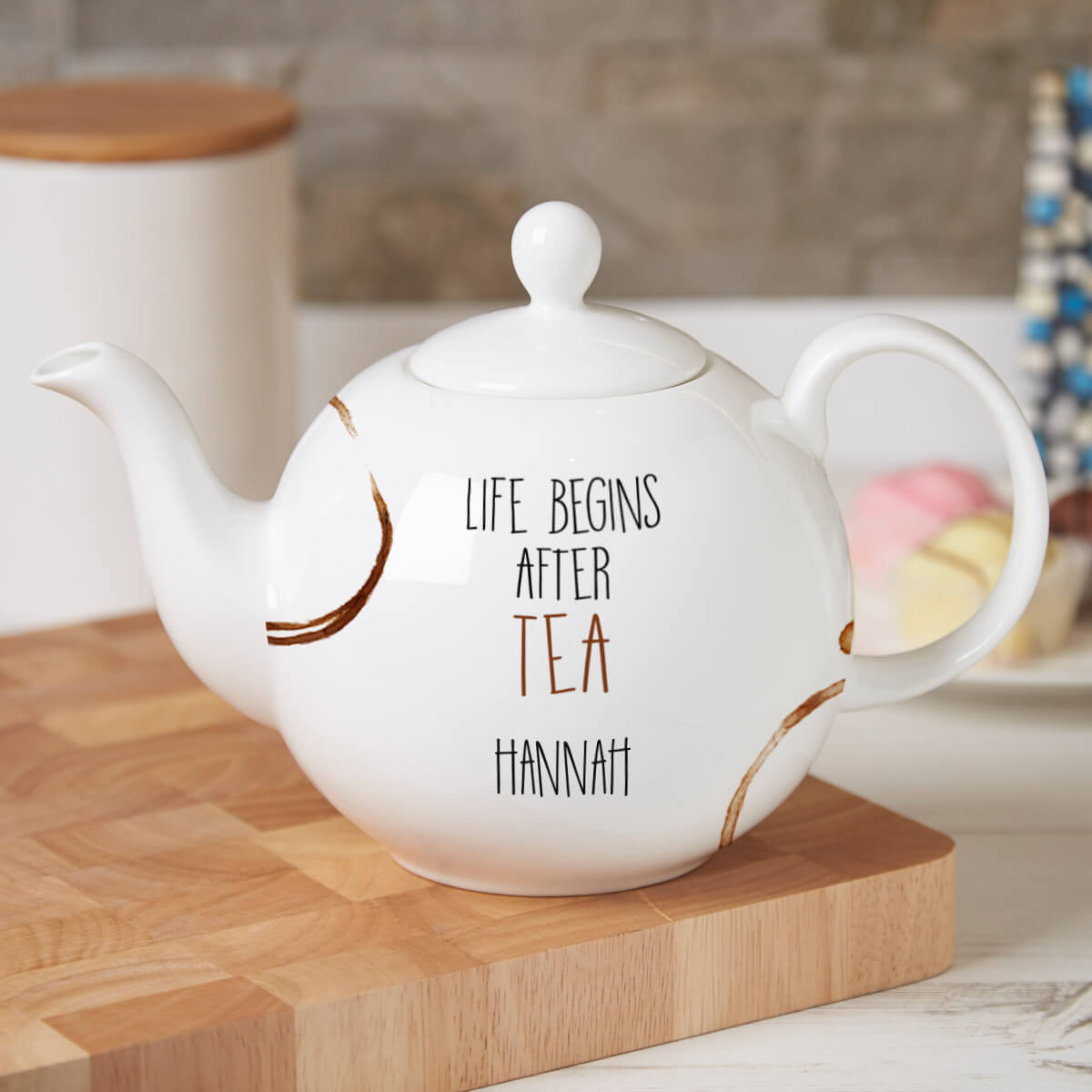 Personalised Life Begins After Tea Pot Belly Teapot