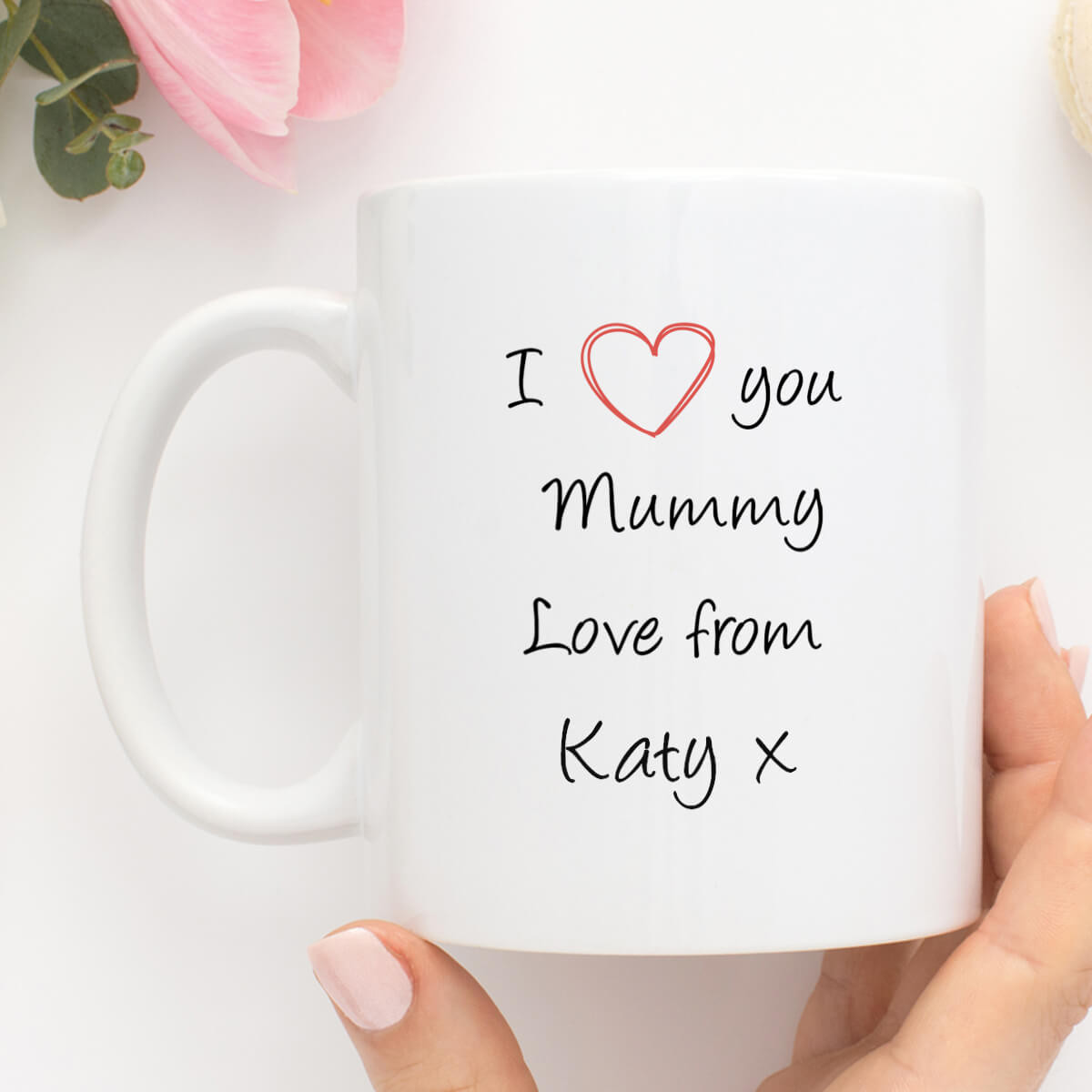 Personalised I Love You Mummy Mug Durham
