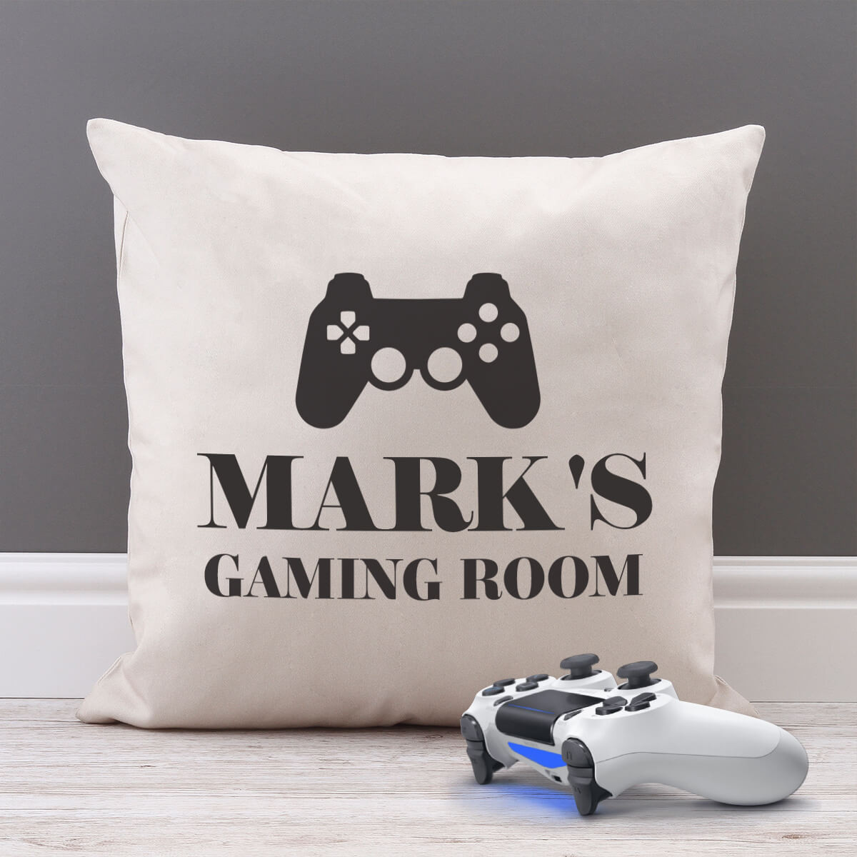 personalised Gaming Room Cotton Cushion