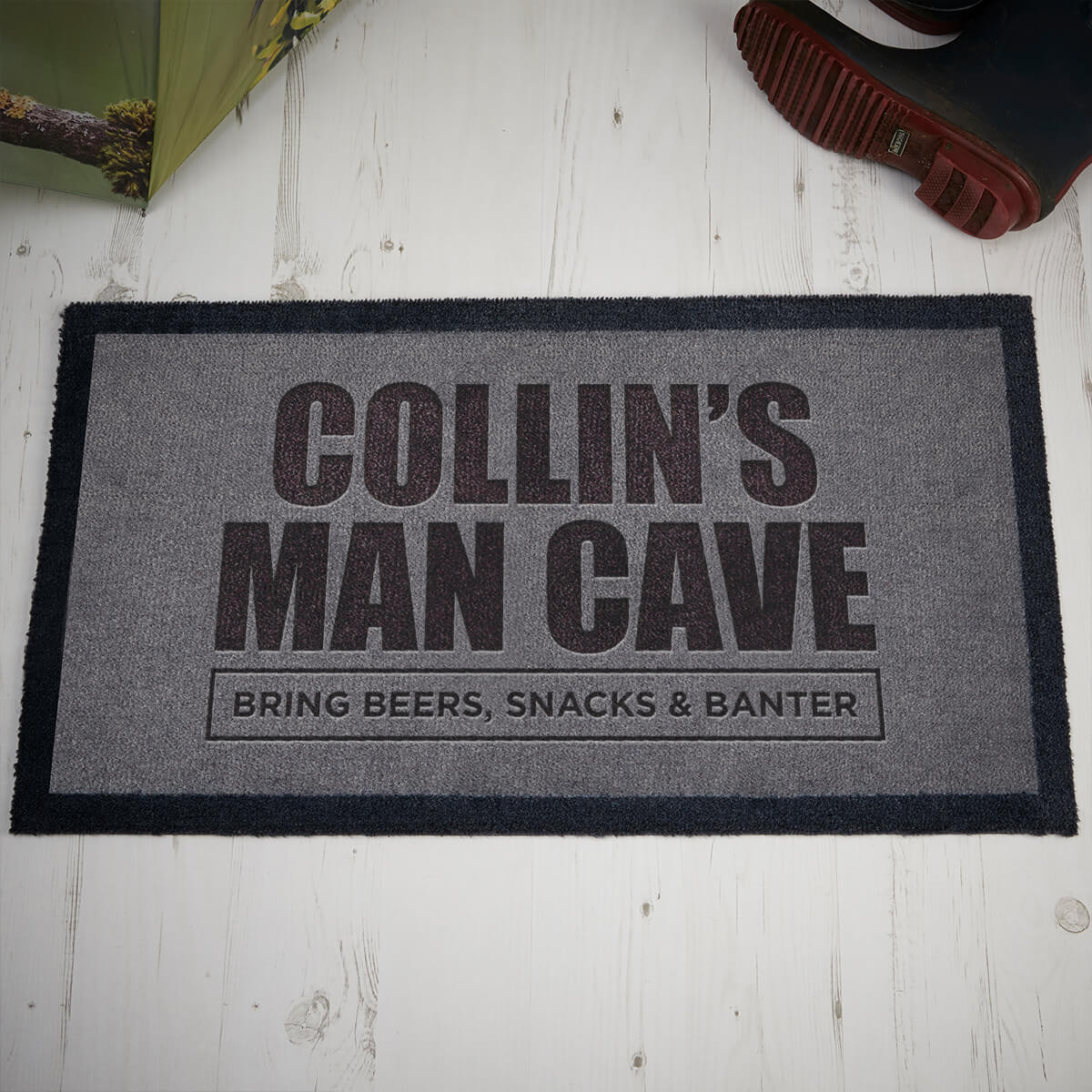 personalised man cave doormat