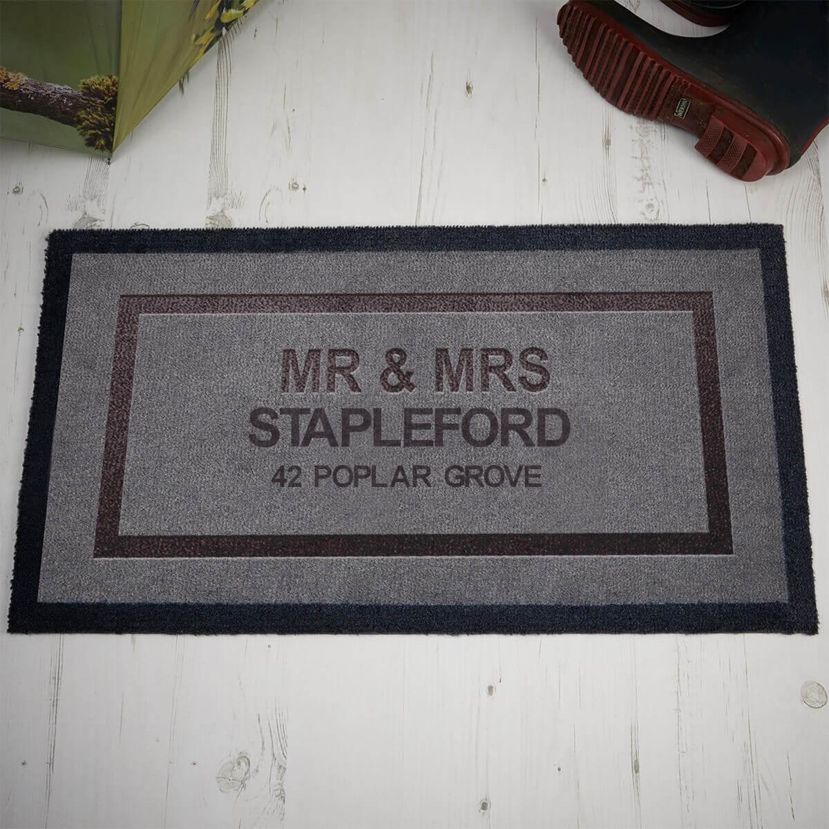 personalised mr and mrs indoor mat