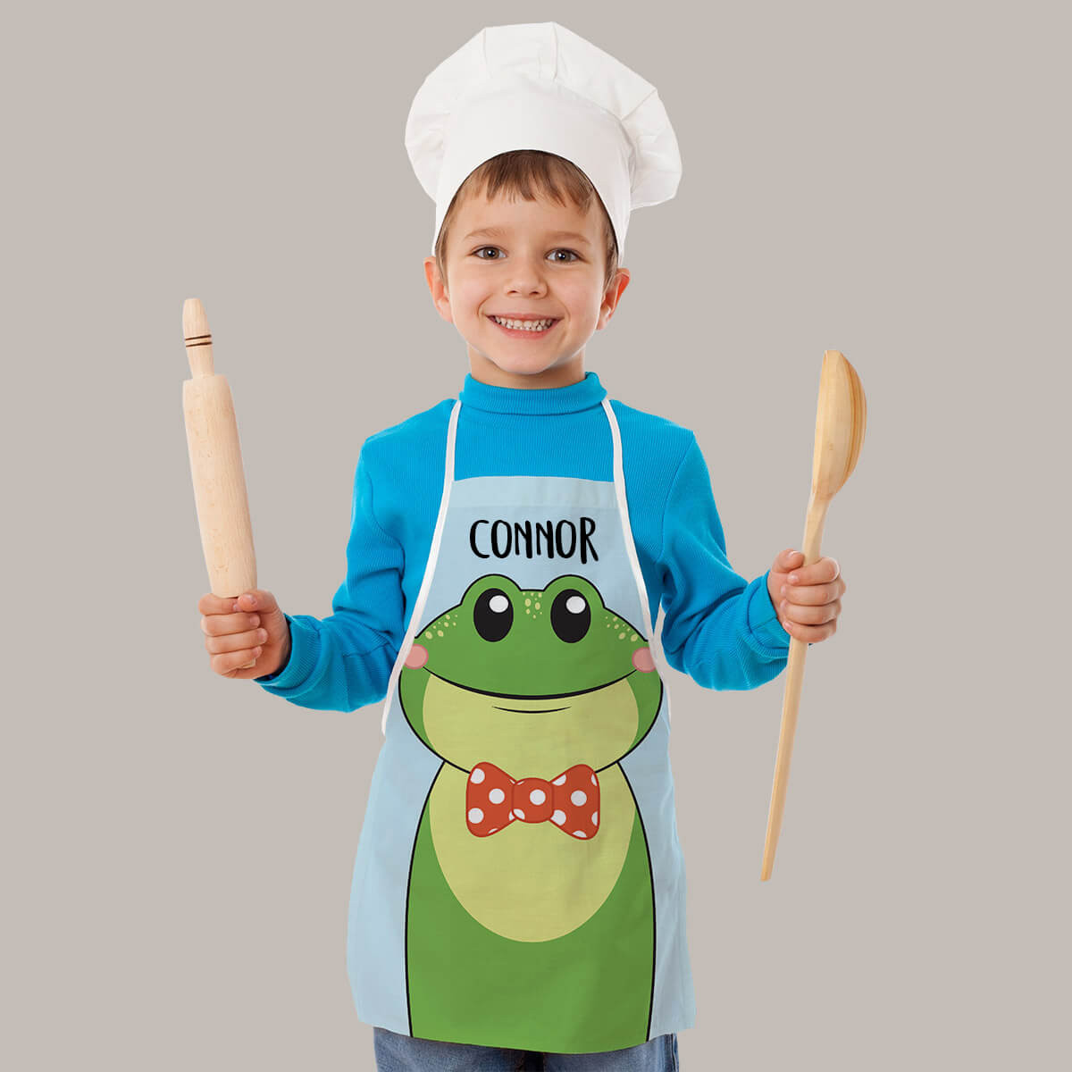 Personalised Frog Apron