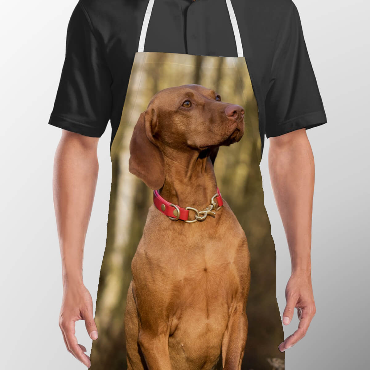personalised pet photo apron