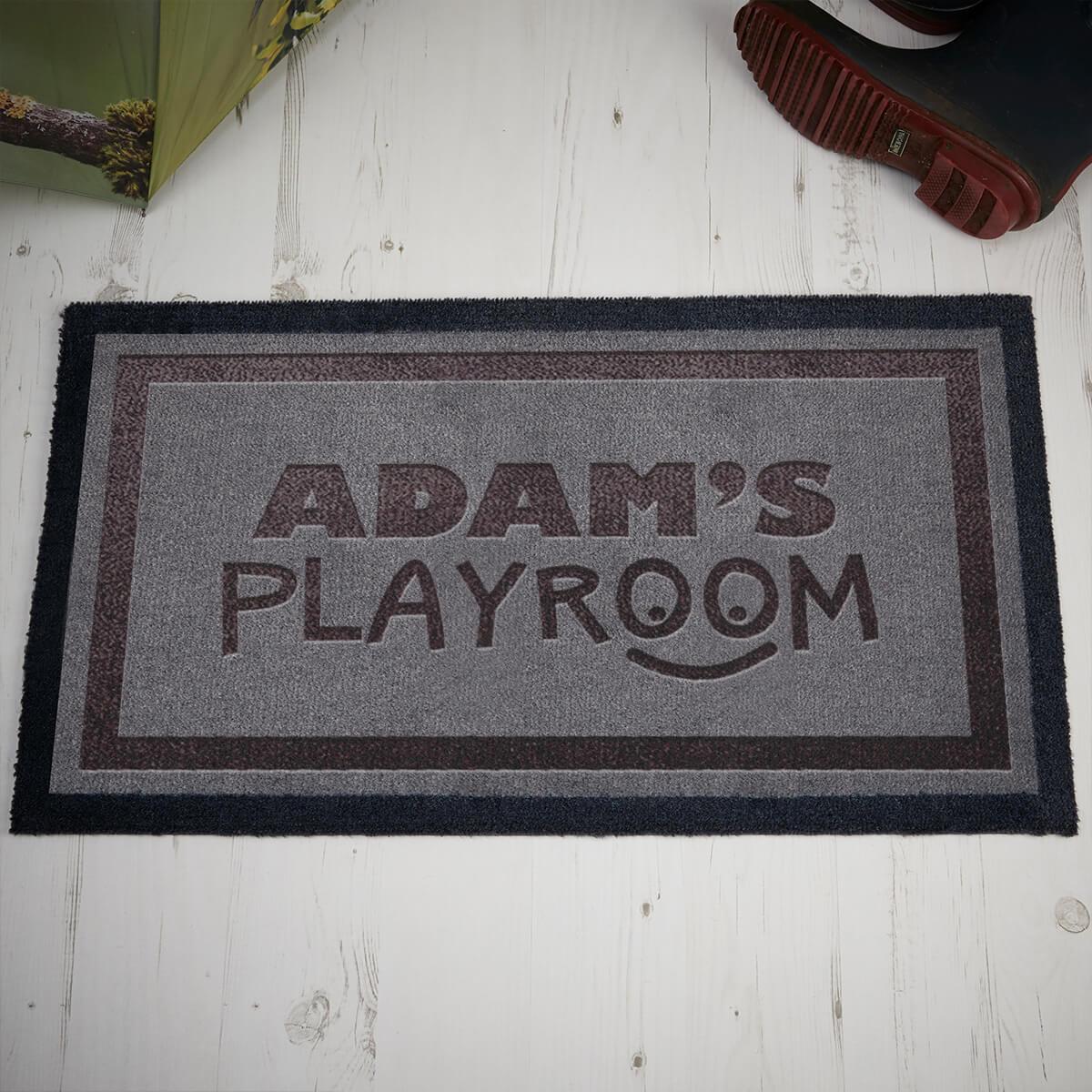 personalised Playroom Doormat