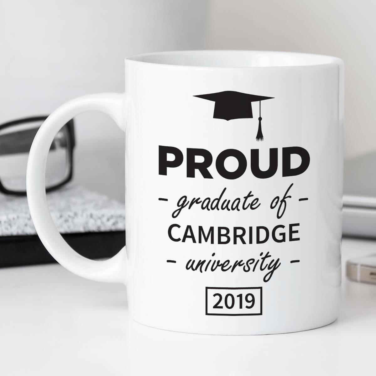 personalised proud graduate mug