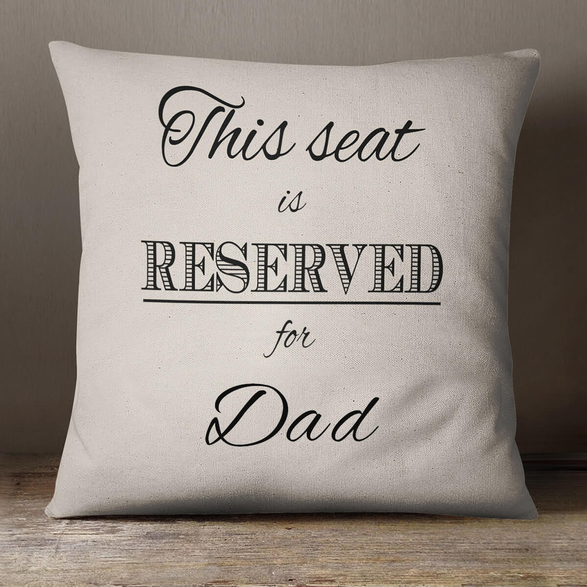 personalised Reserved For Cotton Cushion