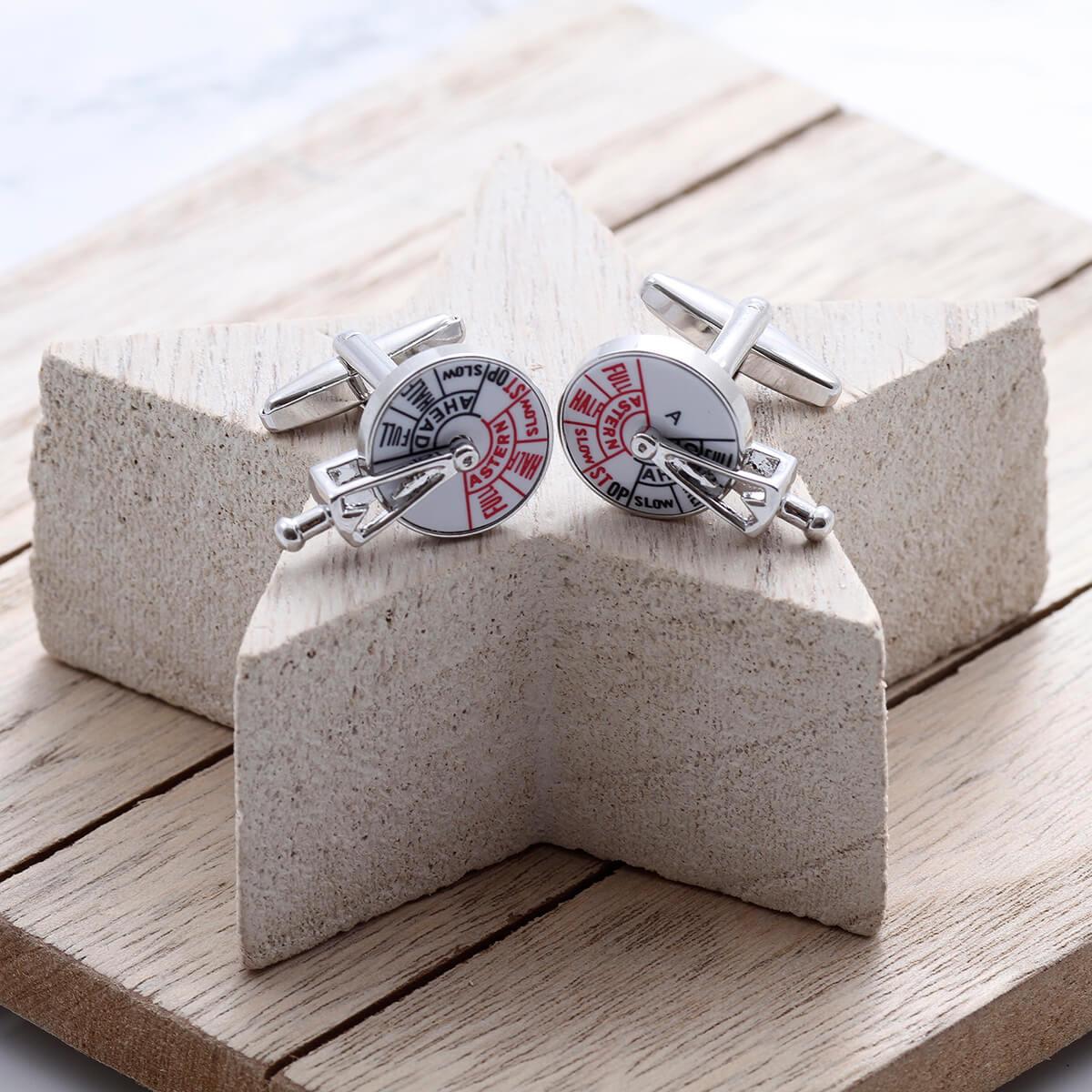 personalised Ship Speed Cufflinks Gift Set