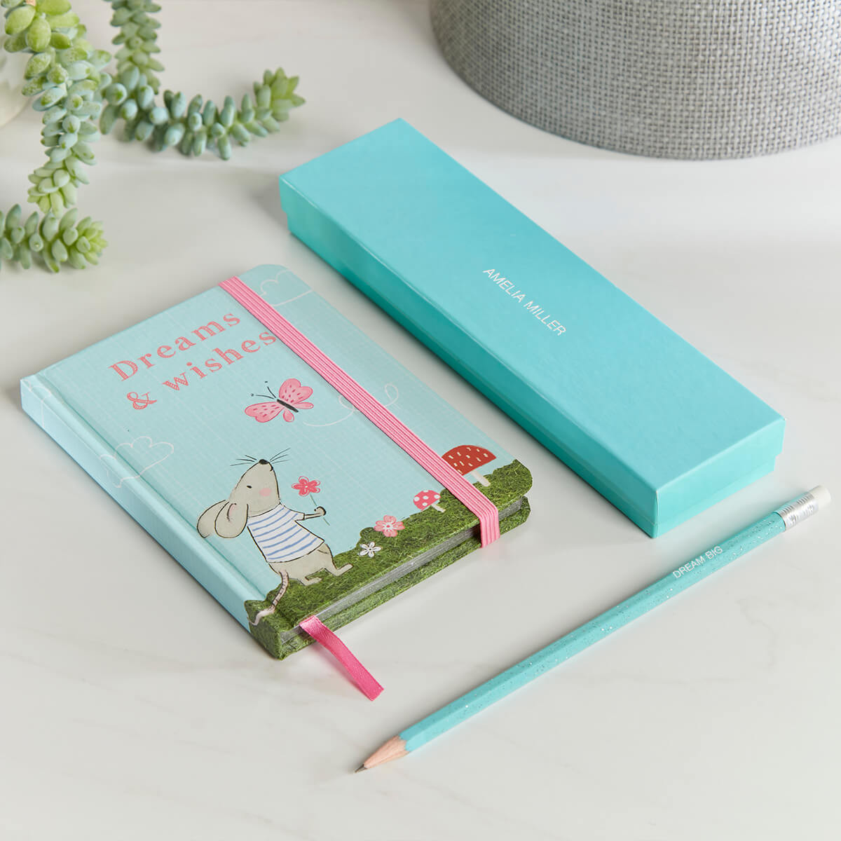 personalised Forest Fairies Dreams & Wishes Notebook