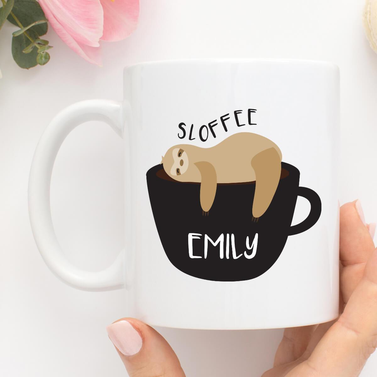 personalised sloffee coffee mug