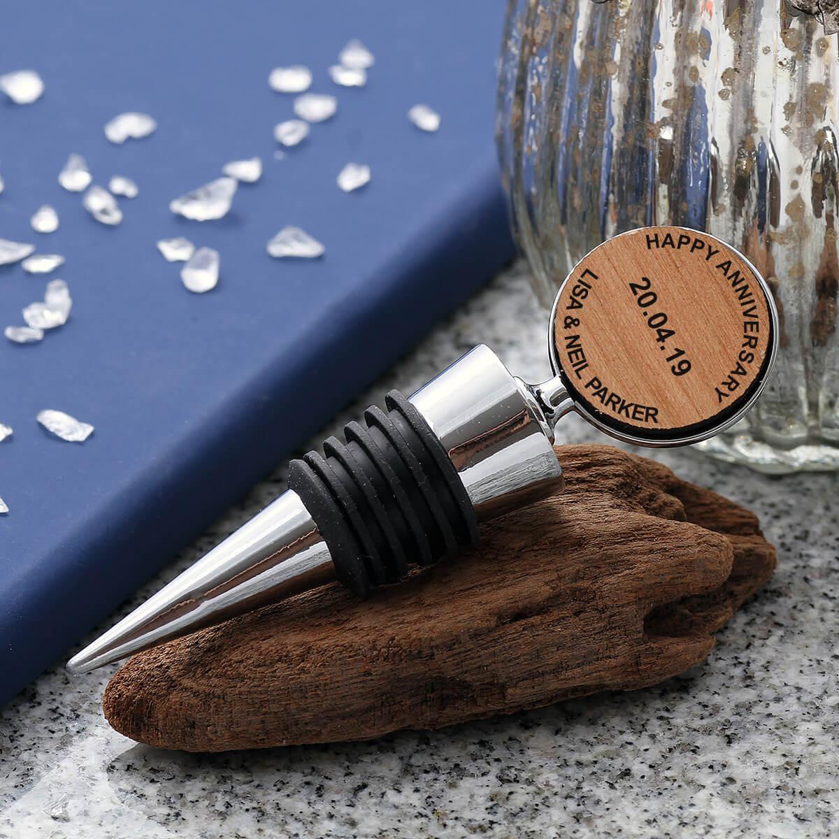 personalised Wooden Bottle Stopper