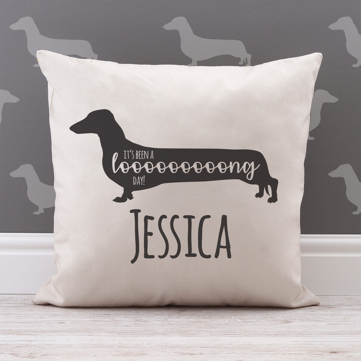 personalised It's Been a Long Day Cotton Cushion