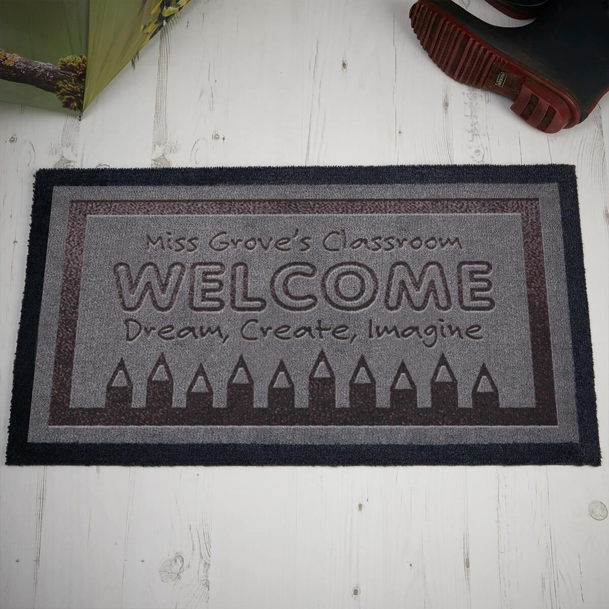 personalised Teacher's Classroom Doormat
