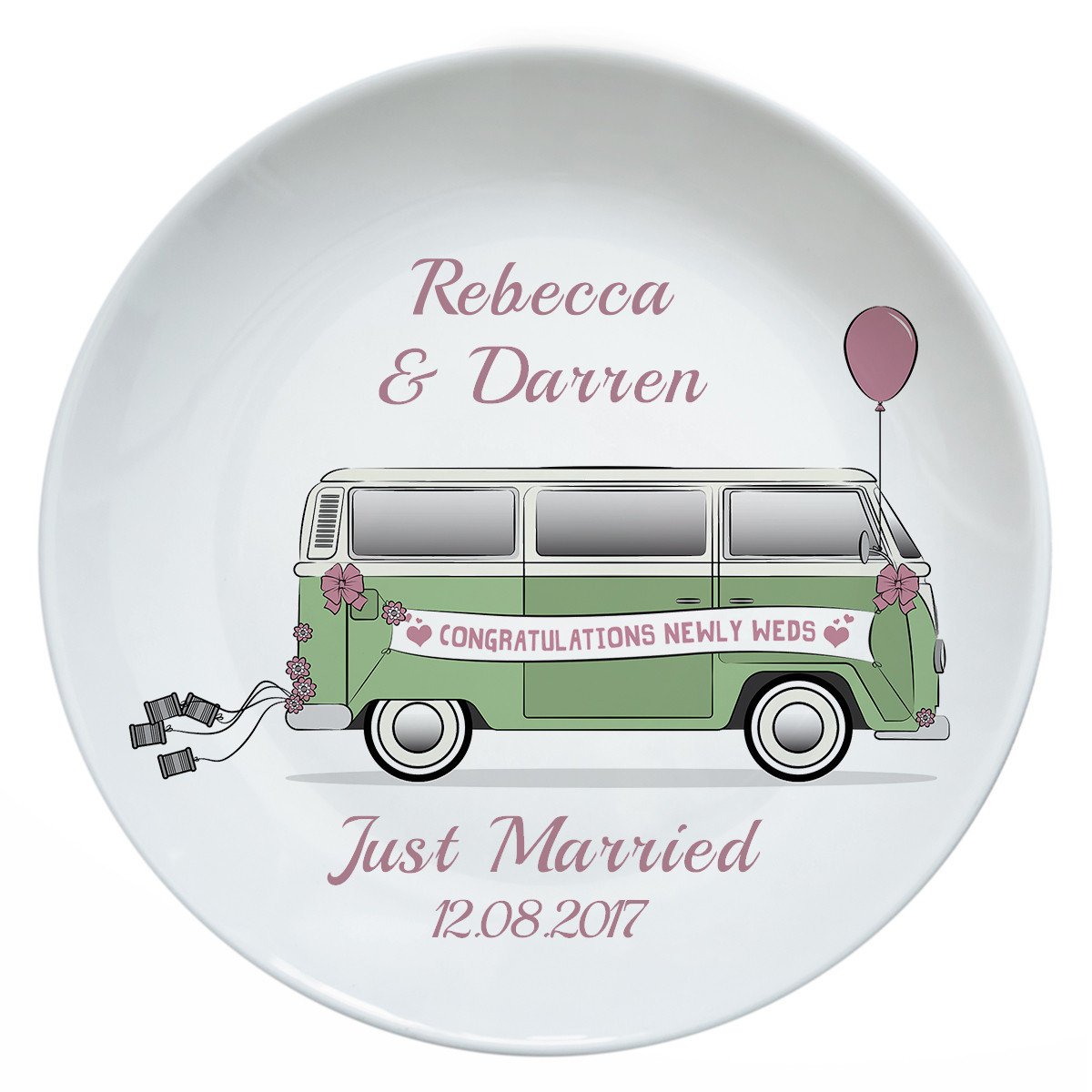 Personalised Just Married Camper Van Plate