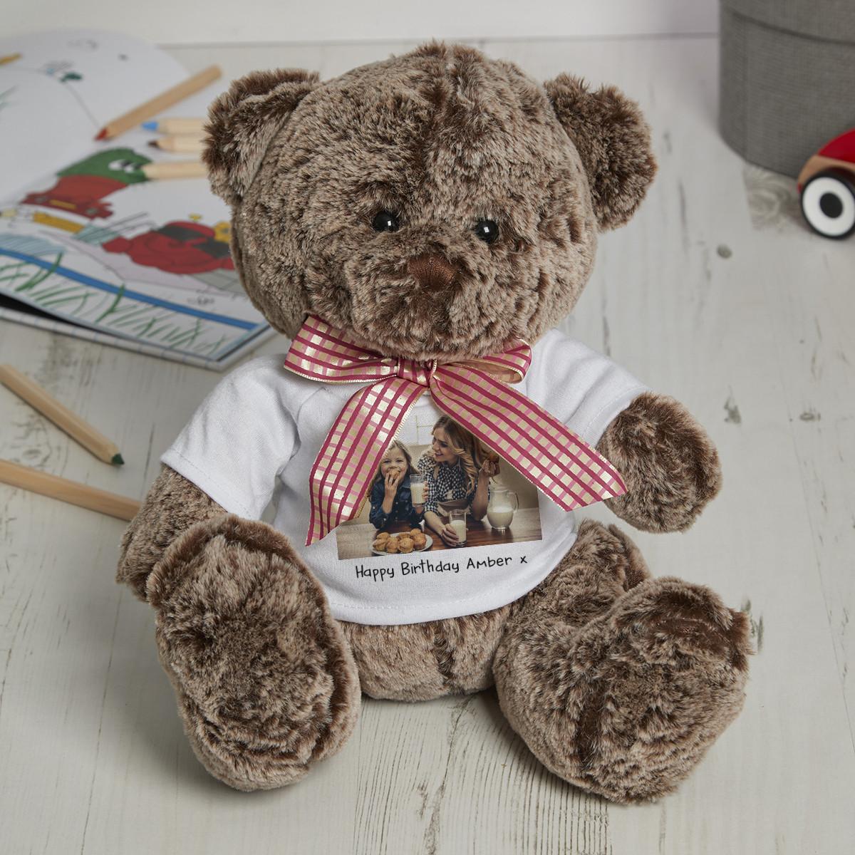 personalised Photo Coco Teddy Bear