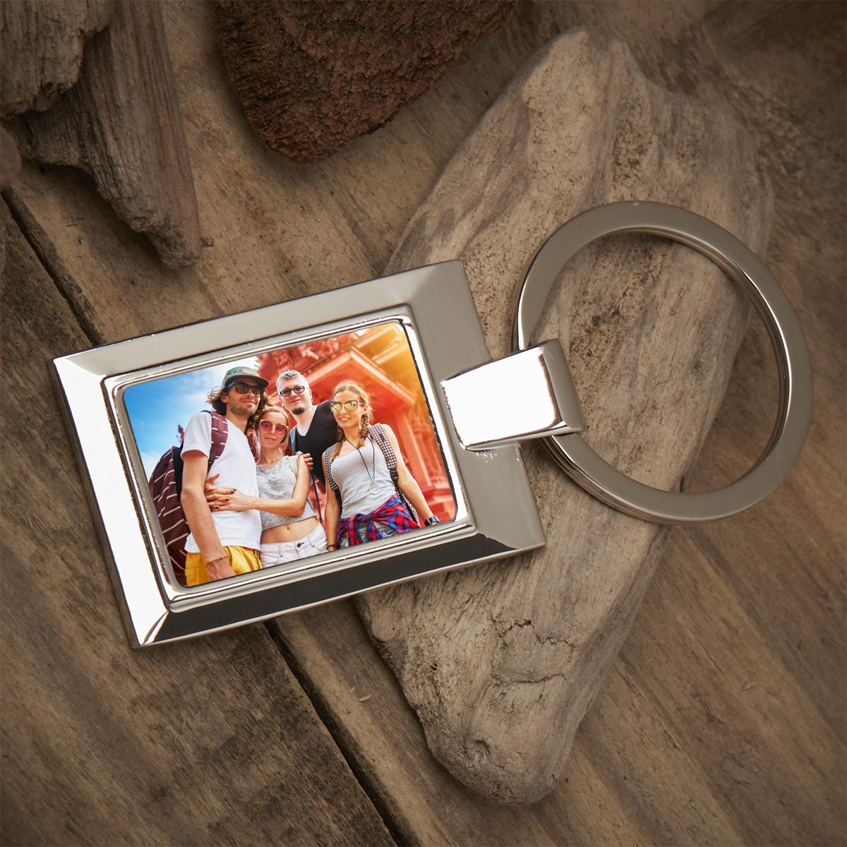 Personalised Friend Photo Upload Metal Keyring